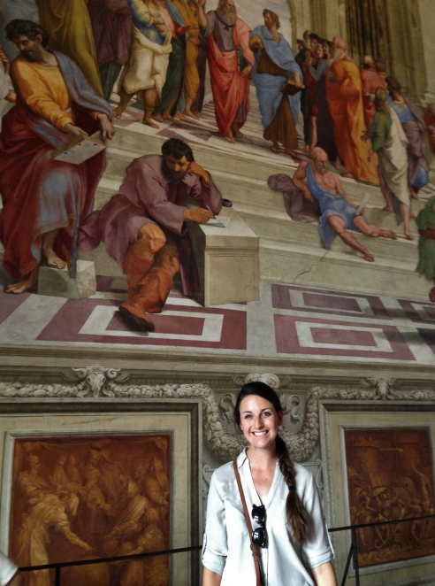 """Raphael's School of Athens! Located in the Stanza della Segnatura, part of the """"Raphael Rooms"""""""