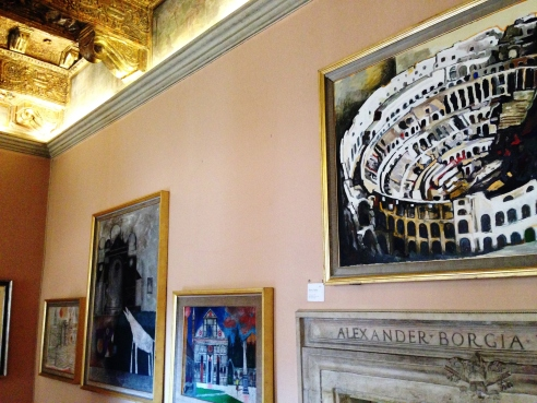Beginning the Contemporary Art exhibition