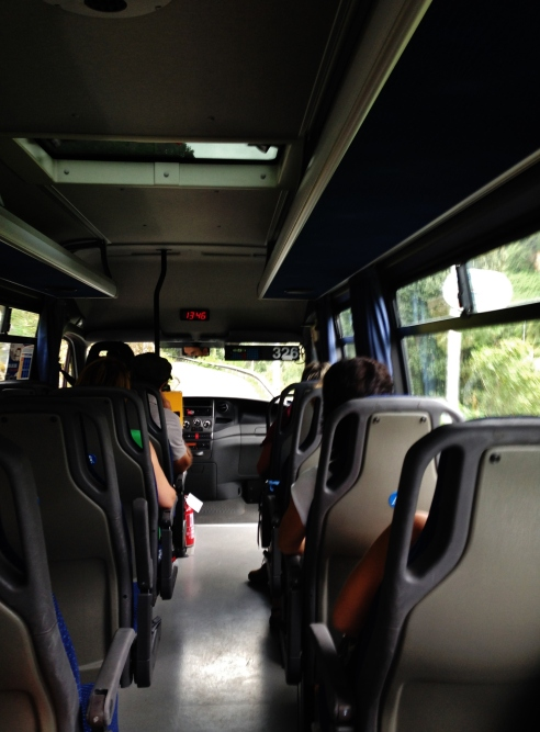 Our shuttle bus for the steep, winding roads from Acquasanta to Campiglia