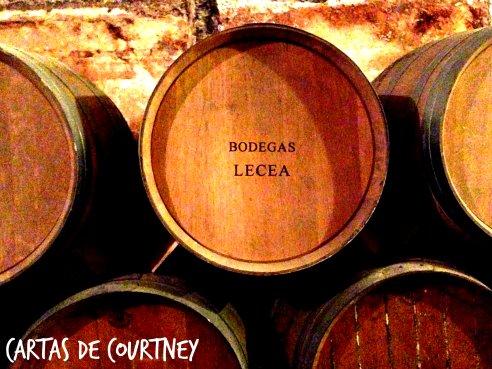 Bodegas Lecea's wine cellar